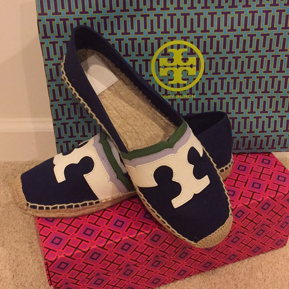 5ed166b88 Tory Burch Shoes | Nwt Laguna Espadrille Flat In Navy | Poshmark
